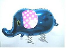 BLUE ELEPHANT WALKING BALLOON FOIL HELIUM PET PARTY ZOO AIRWALKER PARTY BIRTHDAY