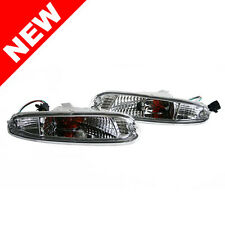 90-97 MAZDA MIATA MX-5 FRONT BUMPER TURN SIGNAL LIGHTS - CRYSTAL CLEAR