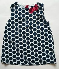4 years girls childrens clothes - BABY GAP white black spotted top red bow