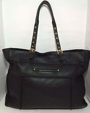 STEVE MADDEN Extra Large Black Pebble Buttery Soft Leather Purse Womens Tote Bag