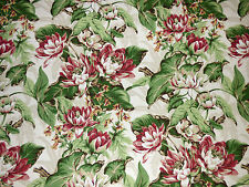 Bloomcraft Tropical Floral CITRUS Pink Green Home Decor Drapery Sewing Fabric