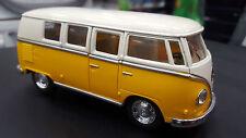 volkswagen classiche BUS 1962 GIALLO KINSMART giocattolo modello 1/32 Scala