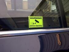 Car CCTV Stickers -  Deter Insurance Scams -Security Camera Warning Stickers