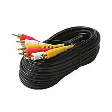 NEW 18 ft stereo audio video A/V AV 3-RCA cable gold plated *USA Seller*