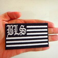 Black Lable Society BLS US Flag Logo Embroidered Iron Sew on Patch DIY J007