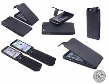 Original De Cuero Real De Lujo Negro Gamuza Flip Cartera Funda Iphone 6 6s Plus 5.5 ""