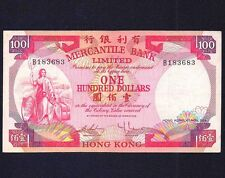 HONG KONG 100 DOLLARS 1974  P-245  Mercantile Bank   VF