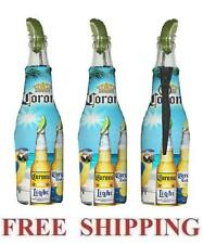 CORONA EXTRA LIGHT MACAW PARROT 3 BEER BOTTLE KOOZIE COOLIE COOLERS HUGGIE NEW