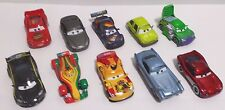 Disney Pixar Cars Lot of 10 Toy Cars Lightning McQueen, Fin McMissile