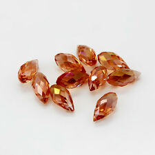 New 10pcs Pretty High Quality DIY Faceted Glass Crystal Teardrop Beads 6x12mm