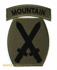 10TH MOUNTAIN DIVISION SUBDUED HAT PATCH US ARMY FORT DRUM NY LIGHT INFANTRY WOW