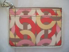COACH KRISTIN CHAIN LINK ID SKINNY COIN PURSE CASE 49003 NWT MULTI COLOR