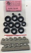 EQG72089 Equipage 1/72 Rubber Wheels for Tupolev Tu-95 and Tu-142 Bear Bomber
