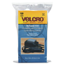 Velcro Reusable Self Gripping Cable Ties - 100 ct