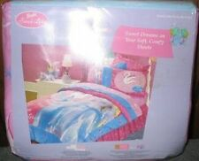 BARBIE SWAN LAKE RARE HTF TWIN SHEETS SET~NEW~PRETTY FLOWERS AND SWANS