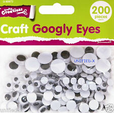 Craft Googly Eyes - 200 pieces - 3 different sizes