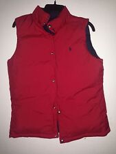 polo ralph lauren boys men puffer jacket vest sz XL fits men M