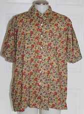 "MAUS & HOFFMAN / LIBERTY OF LONDON MEN SHIRT BUTTON FRONT XXL / ""COLORFUL"""