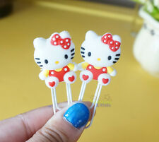 4 Pcs Hello Kitty Note Office Paper Clip School Supplies Study Article RED