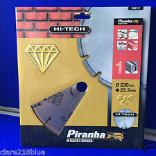 NEW Piranha Black & Decker Diamond Blade for Angle Grinder Segmented Rim Stone