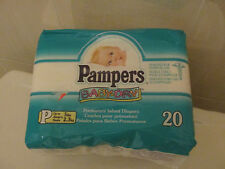 VINTAGE PAMPERS BABY-DRY DIAPERS FOR PREEMIES FROM 1997-SEALED PACK!