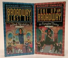 TWO (2) NEW - SEALED Richard Simmons VHS -Tone Up on  / Blast Off BROADWAY music