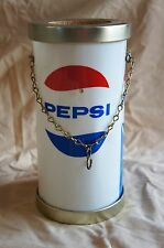 RARE VINTAGE PEPSI COLA HANGING CANDLE HOLDER LAMP MILAR PLASTIC  SHADE