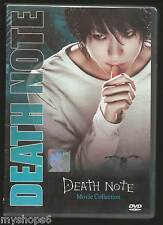 DVD DEATH NOTE Movie Collection Part 1+2+3 Live Action Boxset ENGLISH Version