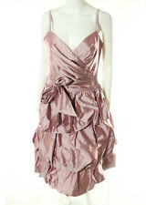 NWT ESCADA Pink Pure Silk V Neck Pleated Tiered Dress EUR Sz 38 $3500 7277967