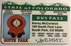 Kenny - Colorado, Bus Pass Novelty - South Park