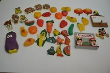 Huge Lot Of 40+ Retro Vintage Refrigerator Magnets Mickey Vegetables Fruit More