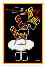 """Cuban decor Graphic Design movie Poster for film""""WHAT'S UP Doc?""""Streisand"""