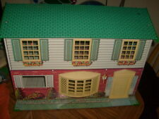 "Vintage 60s Metal Steel/Tin Wolverine Dollhouse 22"" x 16"" x 12"" Colonial/modern"