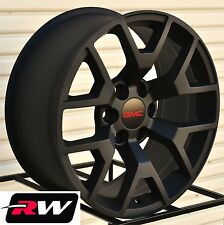 "2014 GMC Sierra Wheels GMC Yukon 1500 Satin Black Rims 20"" inch 20x9"" 2015 2016"