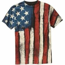 AMERICAN FLAG T-SHIRT FADED DISTRESSED Graphic S Small USA PRIDE 4th of July Tee