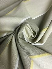 BEAUTIFUL LIGHE BEIGE STRIPE CHENILLE UPHOLSTERY FABRIC 5.7 METRES