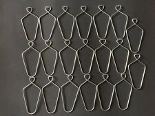 """(20 Pack) 3"""" Wire Clip Hanger Pinch Hooks for Drop and Suspended Track Ceiling"""