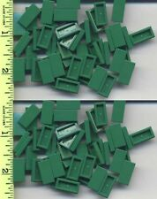 LEGO x 100 Green Tile 1 x 2 with Groove NEW