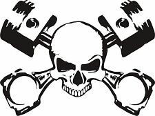 PISTON SKULL COOL STICKER DECAL GRAPHIC FREE POST