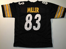 Pittsburgh Steelers Heath Miller UNSIGNED CUSTOM Black Jersey - XL