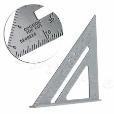 "7"" Aluminum Alloy Speed Square Use as Protractor Miter Carpenter Square Framing"
