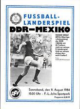 Länderspiel 11.08.1984 DDR - Mexiko in Berlin