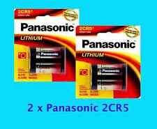 2 retail pack **Panasonic 2CR5 ** Lithium Photo Battery DL45,KL2CR5,5032LC