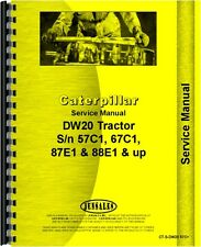 Caterpillar DW20 Tractor Service Manual (SN# 57C1 and Up)