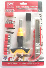 Multi function 17 in 1 Professional Tool Kit Bits,Sockets,Knife,Cutter