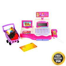 Children Pretend Toy Shopping Electronic Cash Register Realistic Actions & Sound