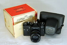 Russia USSR ZENIT ET film camera + lens Helios 44M 35mm full kit! Working exc.!
