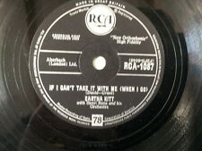 "78 rpm 10"" EARTHER KITT if I cant take it with me"