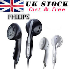 PHILIPS she3800 leggero in ear Gummy Auricolari Extra Bass Nero di alta qualità