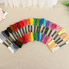 50 Multi Colors Cotton Cross Stitch Embroidery Thread Floss Sewing Skeins Yarn